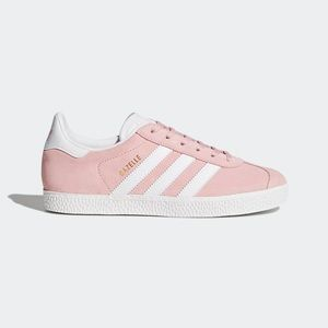 Pink adidas gazelle shoes